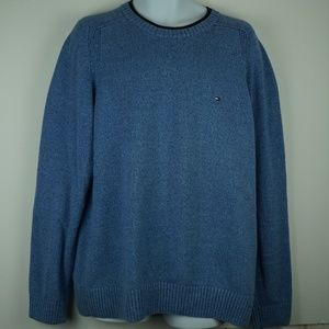 Tommy Hilfiger Mens Light Blue Knit Sweater Sz XL